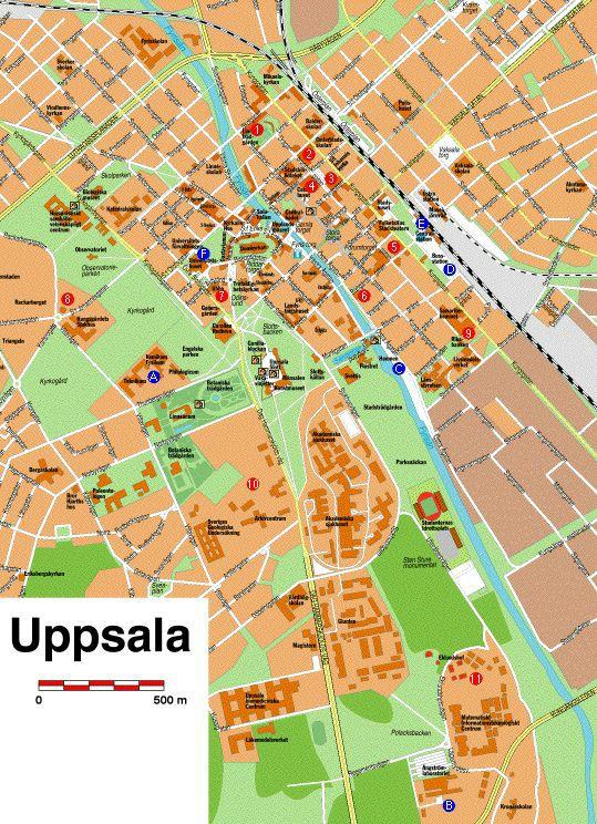 Basic Training Photos >> Map of Uppsala